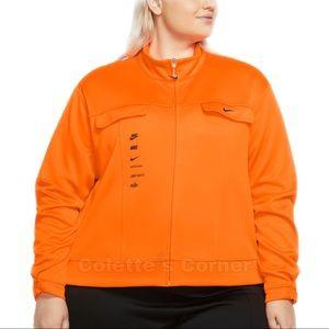 Nike Orange Swoosh Polyknit Track Full Zip Jacket